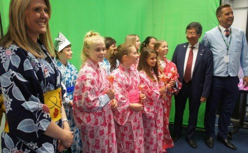Japan - UK Season of Culture school visit at Sony Pencoed | Sony UK TEC