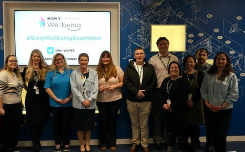 Welsh wellbeing experts offer 'vital' advice to Sony UK TEC staff at first Wellbeing Roadshow
