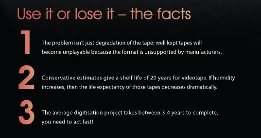 Media Lifecycle Facts | Sony UK TEC